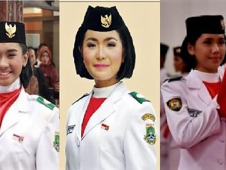 KI-KA: Sabrina (Paskibraka Nasional 2013), Maria Felicia Gunawan (Paskibraka Nasional 2015) dan Audrey Nathania Sumali (Paskibraka Nasional 2017)
