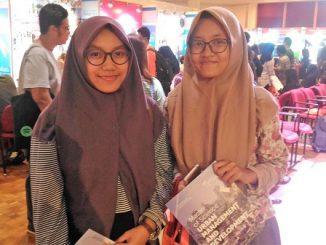 Yukarina dan Inggar dari Lampung di Dutch Placement Days 2017, Erasmus Huis Jakarta, Jumat, 3 November 2017