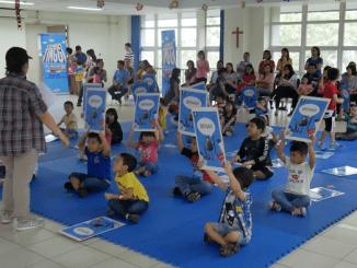"Lomba cerdas cermat di acara Open School dengan tema ""Family Fun Zone"" di TKK 3 PENABUR Jakarta pada Sabtu, 27 Oktober 2018"