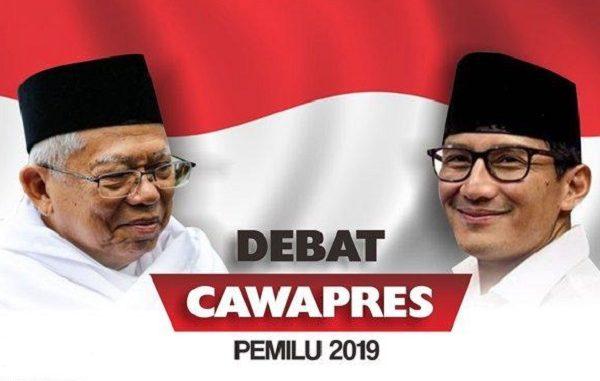 Debat Cawapres 2019: Ma'ruf Amin Vs Sandiaga Uno