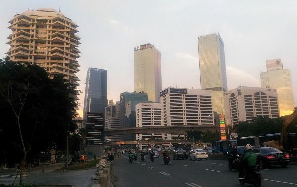 Kawasan perkantoran di Sudirman Jakarta