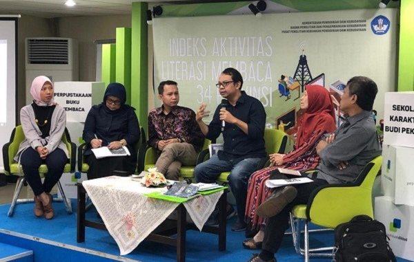 Diskusi dan peluncuran buku Indeks Aktivitas Literasi Membaca (Indeks Alibaca)