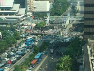 Aksi massa di Thamrin pada Selasa, 21 Mei 2019