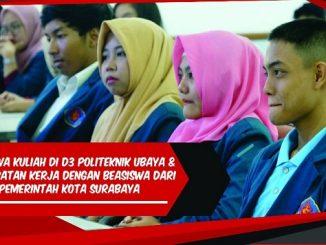 Beasiswa Politeknik Ubaya Langsung Kerja bagi Lulus SMA/SMK/MA Tutup 13 Juli 2019