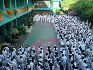 Peserta didik di SMP Negeri 115 Jakarta