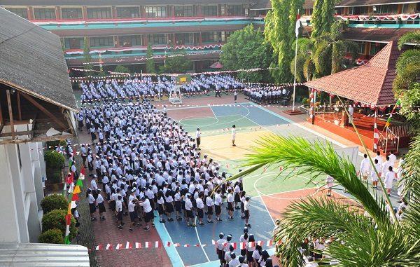 Peserta didik di SMPK Frater Xaverius 1 Palembang