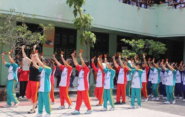 Peserta didik di SMP Negeri 1 Surabaya