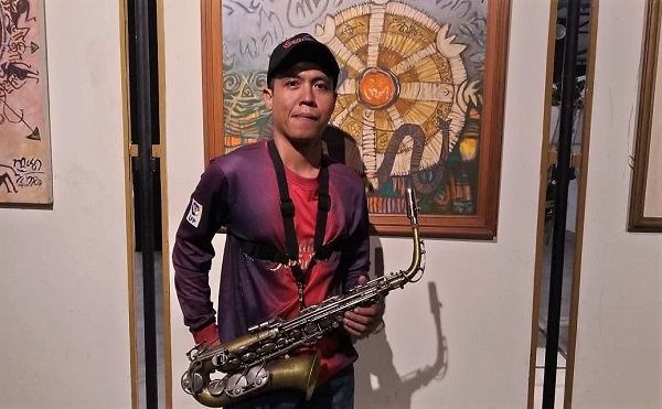 "Andri Triyanto saat Pameran Pamit Pensiun Dr Hajar Pamadhi MA (Hons) ""Rajah Matakala Cakra"" di Taman Budaya Yogyakarta (TBY), Senin, 16 Juli 2019"