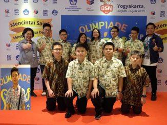 Kontingen SMPK PENABUR Jakarta di OSN SMP 2019 di Yogyakarta