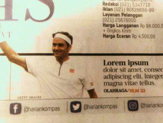 Lorem Ipsum: Keteledoran edisi cetak Kompas, Rabu, 10 Juli 2019