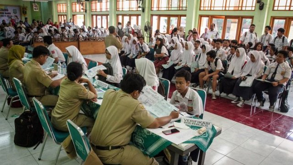 Pendaftaran PPDB SMA di Solo, Jawa Tengah (Antarafoto)