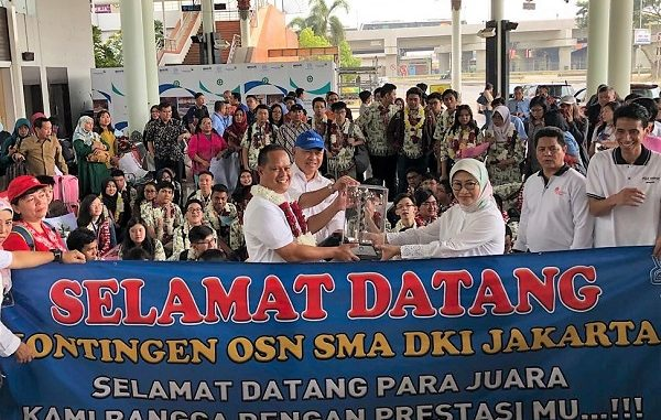 Penjemputan Kontingen OSN SMA DKI Jakarta