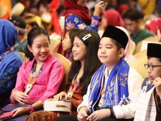 Keceriaan peserta OSN 2019 Tingkat SD saat acara penutupan