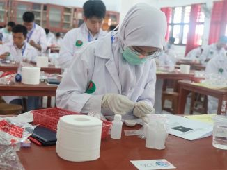 Peserta OSN 2019 di Manado sedang mengikuti tes