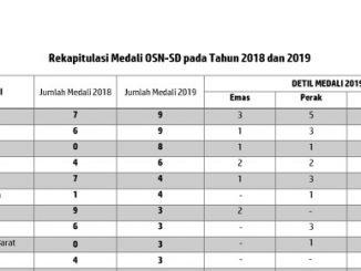 Rekapitulasi Hasil OSN 2019 Tingkat SD di Yogyakarta