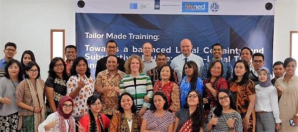 Peserta pelatihan kajian sosio legal yang dilaksanakan di Gedung Makara Universitas Indonesia (UI) di Depok atas dukungan Beasiswa StuNed dari pemerintah Belanda