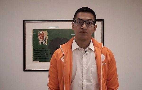 Elgine Harits di acara Orange Tulip Scholarship Awardees Gathering di Kedutaan Besar Belanda di Jakarta, Selasa, 23 Juli 2019