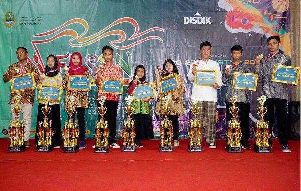 Para pemenang FLS2N SLB Tingkat Provinsi Jabar 2019