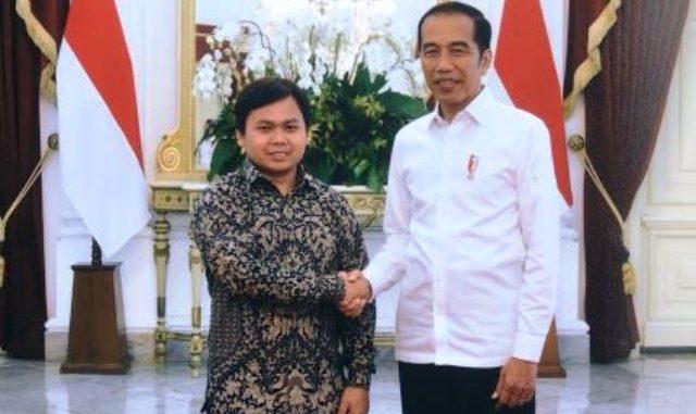 Muchlis Faroqi Furqon bersama Presiden Joko Widodo