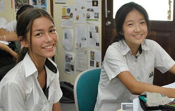 Pelajar di Australian Independent School (AIS) Pejaten, Jakarta Selatan