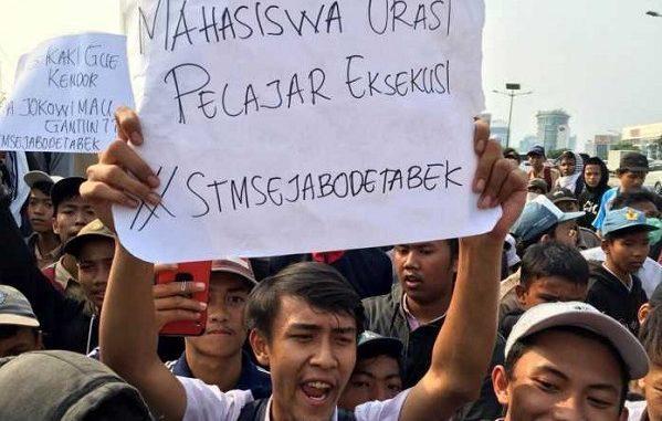 Demo Pelajar STM di Jakarta