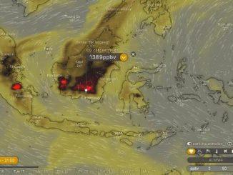 Peta Indonesia yang dimuat di windy.com