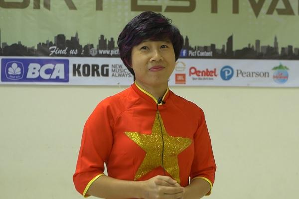 Huyen, salah satu orangtua peserta dari Vinschool Hanoi Vietnam di PICF 2019