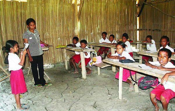 Para siswa di SD di daerah tertinggal, terdepan, dan terluar (3T)