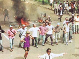 Salah satu aksi mahasiswa 1998 di Jalan Gejayan, Yogyakarta. (ist)
