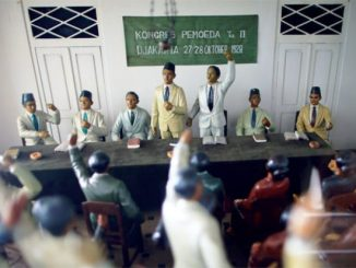 Diorama Kongres Sumpah Pemuda di Museum Sumpah Pemuda