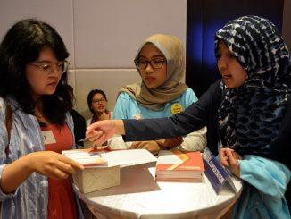 "Sesi konsultasi di acara Erasmus Days 2019 ""Today for Tomorrow"" di Catur Dharma Hall, Menara Astra Jakarta, Sabtu, 12 Oktober 2019"