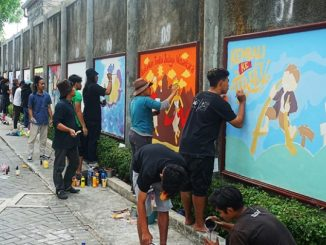 Festival Mural dalam rangka Dies Natalis ke-64 Universitas Sanata Dharma Yogyakarta