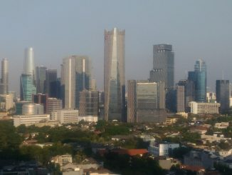 Jakarta City in Indonesia