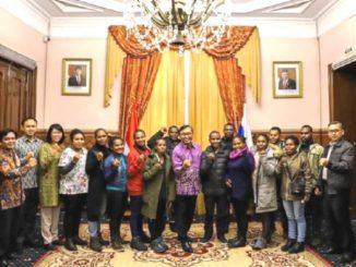 Mahasiswa penerima beasiswa Pemerintah Rusia disambut di KBRI Moskow