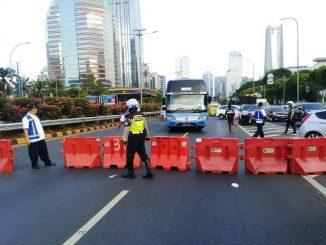 Ruas jalan yang ditutup dan dialihkan menjelang pelantikan Presiden dan Wakil Presiden