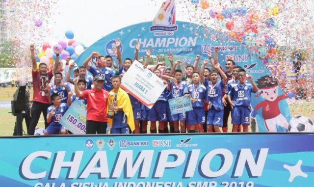 Tim Jawa Tengah meraih juara dalam Gala Siswa Indonesia SMP 2019
