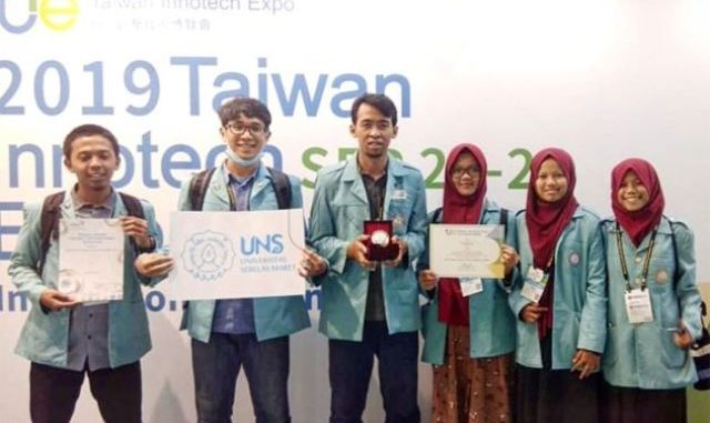 Tim UNS dalam Taiwan Innotech Expo