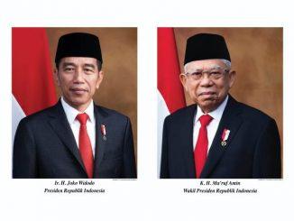 Foto resmi Presiden dan Wakil Presiden 2019-2024. (Dok.Kemensetneg RI)