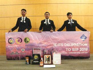 Tim dari Institut Teknologi Sepuluh Nopember (ITS), lagi-lagi menyabet penghargaan dan medali emas dalam gelaran Seoul International Invention Fair (SIIF) 2019 di Korea. (Dok. ITS)