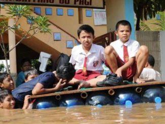 Ilustrasi: Sebanyak 143 sekolah di Jakarta terdampak banjir. (Ist.)