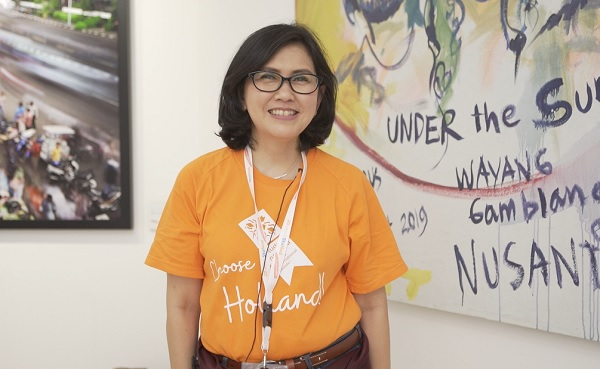 Koordinator Tim Beasiswa Nuffic Neso Indonesia, Indy Hardono saat pelaksanaan Holland Scholarship Day (HSD) 2020 di Erasmus Huis, Kedutaan Besar Belanda di Jakarta, Sabtu, 18 Januari 2020
