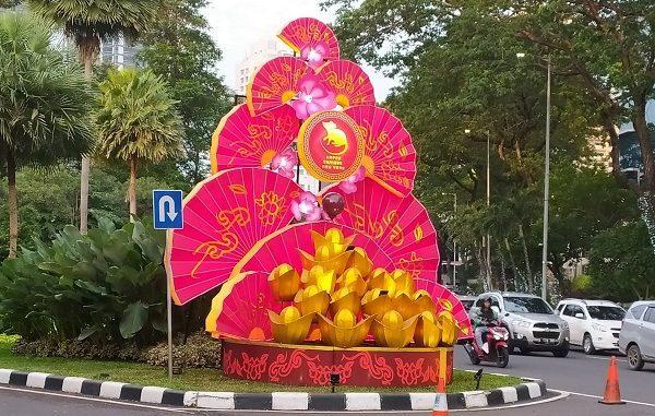 Dekorasi Tahun Baru Imlek 2020 di Kawasan SCBD Jakarta