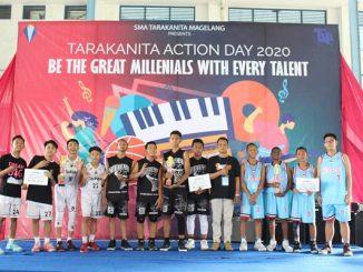Para pemenang pertandingan basket saat Tarakanita Action Days 2020