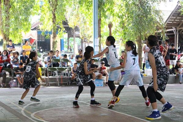 Pertandingan basket saat Tarakanita Action Days 2020 di SMA Tarakanita Magelang, Sabtu, 18 Januari 2020