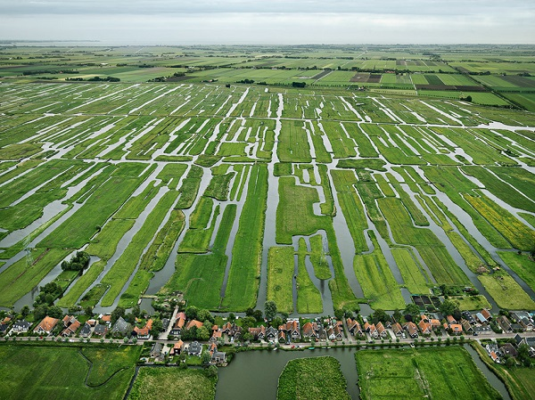 Polder system di Belanda (Foto: Edward Burtynsky)