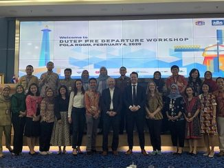 DUTEP Participants and Alumni. In the middle: Mr. Shy Shavit (Rotterdam University of Applied Sciences/RUAS), Mr. Johan Verlinde (Programme Manager Rotterdam Climate Adaptation Plan, City of Rotterdam), Ms. Charlotte Schmidt (RUAS), Balaikota Jakarta, Tuesday, 4 February 2020