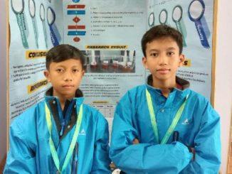 Muhammad Farrel Imanullah dan Muhammad Fikri Nur Rahman dari SMP Islam Sabilillah, Malang, Jawa Timur, mewakili Indonesia dalam ajang Taiwan International Science Fair (TISF) 2020 di Taipei, Taiwan. (Ist.)