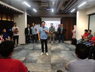 """Peluncuran 7 buku inspiratif secara estafet dari 7 penulis di acara """"Gathering Trainer, Motivator dan Temu Penulis"""" di Posto Dormire Hotel Jakarta, Sabtu, 29 Februari 2020"""