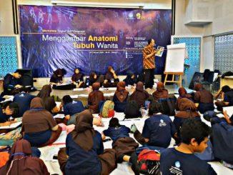 program menggambar bersama dengan peserta para pelajar tingkat SMP se-Jabodetabek di Museum Basoeki Abdullah, Rabu, 26 Februari 2020