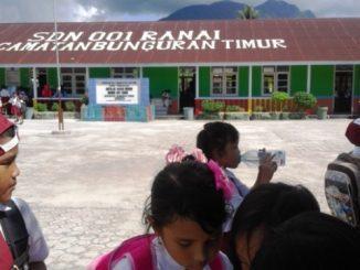 Ilustrasi: Salah satu sekolah di Kabupetan Natuna yang diliburkan. (Ist.)